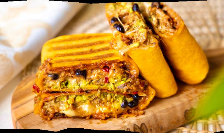 Cheesy Jackfruit Burrito met Guacamole